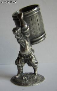 """ANTIK.BYZ: антиквариат, серебро, фарфор, часы   Миниатюра """"Мужик с бочкой"""""""