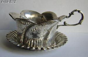 ANTIK.BYZ: антиквариат, серебро, фарфор, часы | Подстаканник с блюдцем